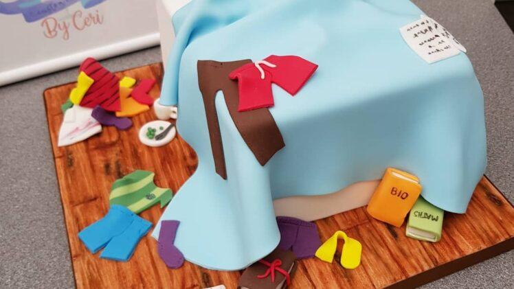 Messy bedroom cake! Happy 16th Birthday Dafydd!