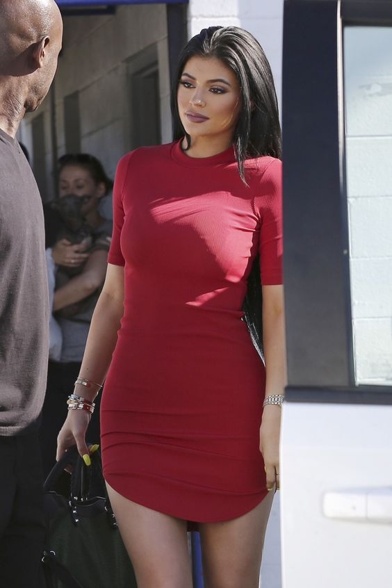 Kylie Jenner in Red